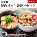 元気豚 焼肉丼&生姜焼丼セット【送料込み】【千葉県産豚肉】【三元豚】