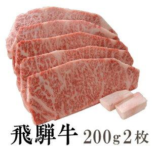 【送料無料】飛騨牛 霜降り サーロインステーキ200g2枚[贈答兼備]