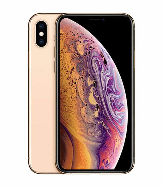 【中古】【安心保証】 au iPhoneXS[64GB] ゴールド