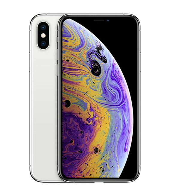 【中古】【安心保証】 au iPhoneXS[256GB] シルバー
