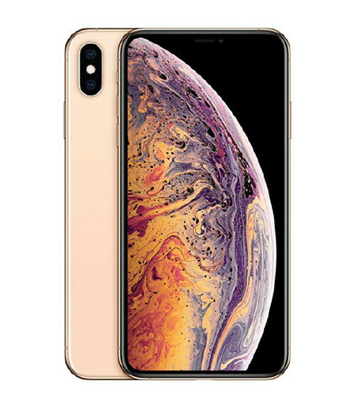 【中古】【安心保証】 au iPhoneXS Max[512GB] ゴールド