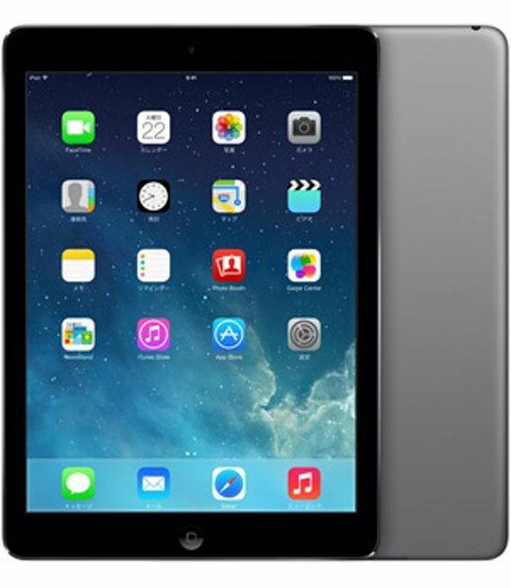【中古】【安心保証】 au iPadAir 1[セルラー32GB] グレイ