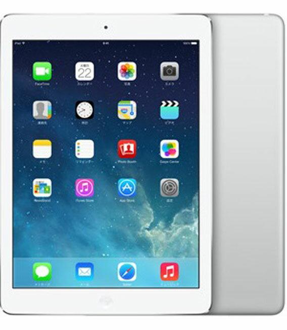 【中古】【安心保証】 au iPadAir 1[セルラー64G] シルバー