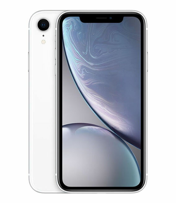 【中古】【安心保証】 SoftBank iPhoneXR[64GB] ホワイト