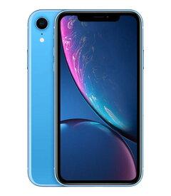 【中古】【安心保証】 docomo iPhoneXR[256G] ブルー
