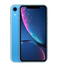 【中古】【安心保証】 docomo iPhoneXR[256G] ブルー SIMロック解除済