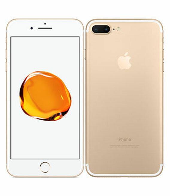 【中古】【安心保証】 au iPhone7Plus 32GB ゴールド SIMロック解除済
