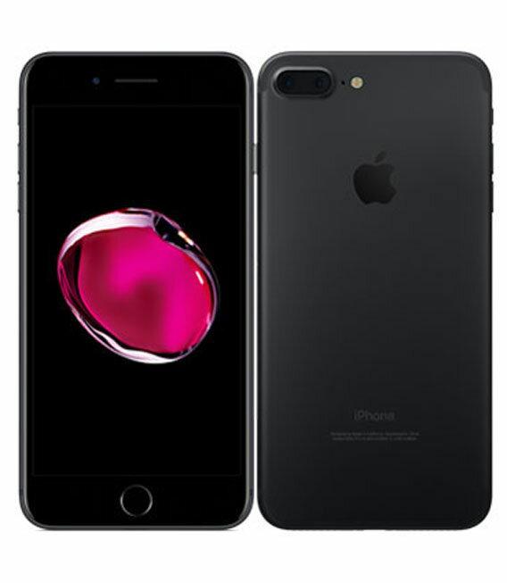 【中古】【安心保証】 au iPhone7Plus 128GB ブラック SIMロック解除済