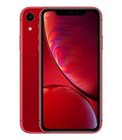 【中古】【安心保証】 SoftBank iPhoneXR[128G] レッド
