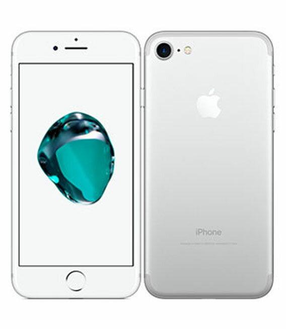 【中古】【安心保証】 docomo iPhone7 128GB シルバー