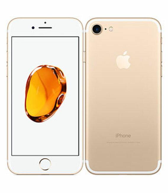 【中古】【安心保証】 au iPhone7 128GB ゴールド SIMロック解除済
