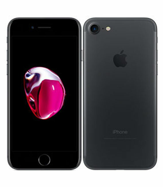 【中古】【安心保証】 au iPhone7 256GB ブラック