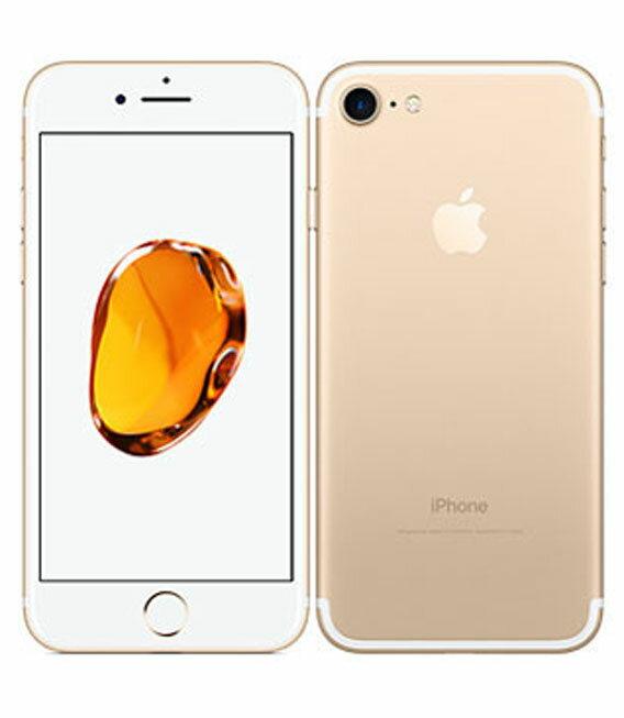 【中古】【安心保証】 SoftBank iPhone7 256GB ゴールド