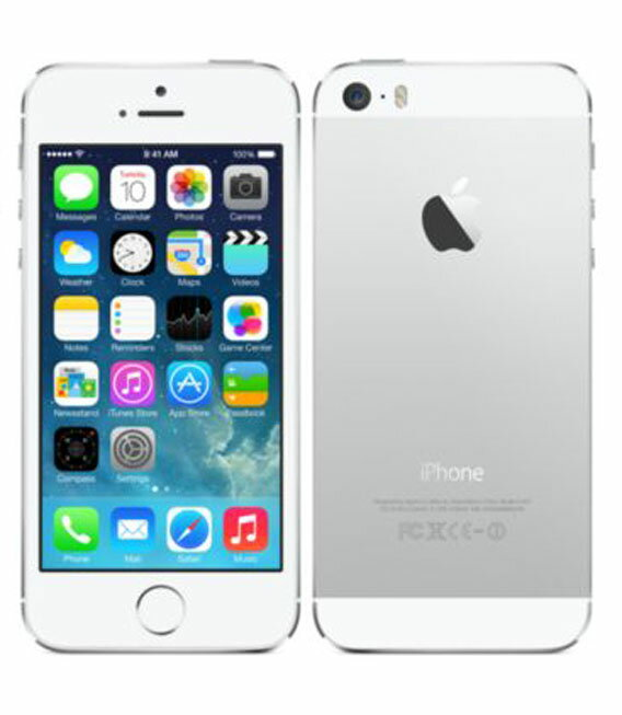 【中古】【安心保証】 SoftBank iPhone5s[64GB-s] シルバー