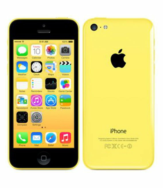 【中古】【安心保証】 SoftBank iPhone5c[16GB-s] イエロー