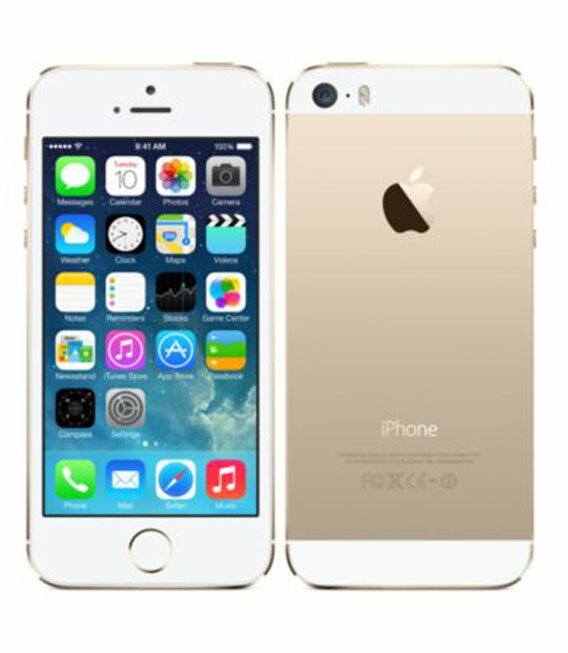 【中古】【安心保証】 au iPhone5s[64GB-a] ゴールド