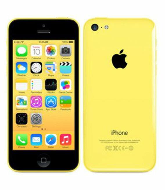 【中古】【安心保証】 au iPhone5c[16GB-a] イエロー