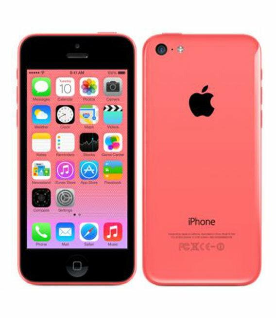 【中古】【安心保証】 au iPhone5c[16GB-a] ピンク