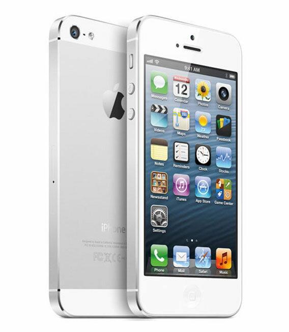 【中古】【安心保証】 au iPhone5[16GB] ホワイト&シルバー