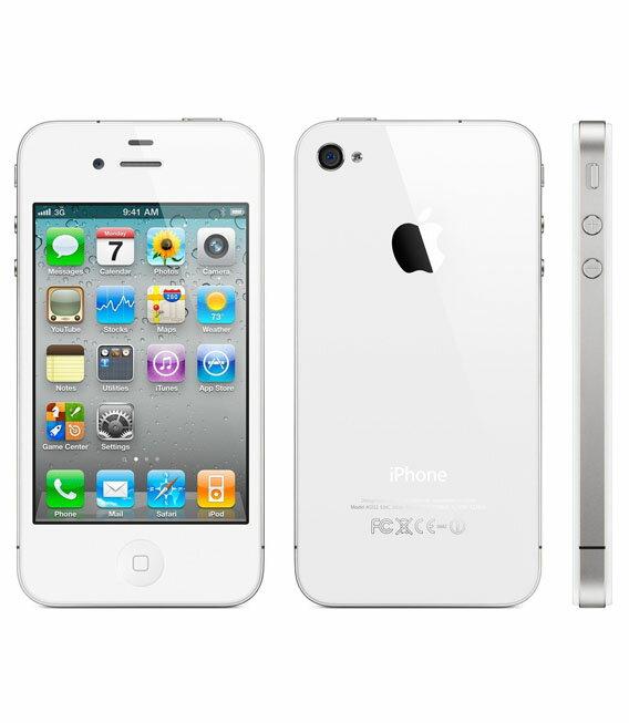 【中古】【安心保証】 au iPhone4S[16GB] ホワイト