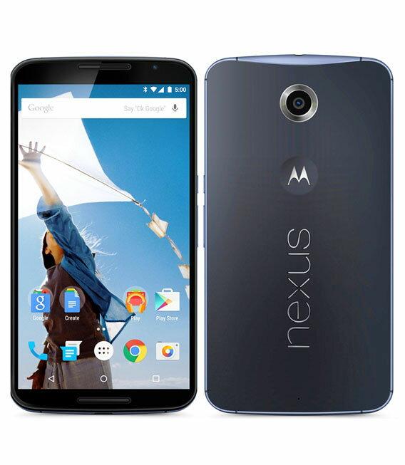 【中古】【安心保証】 SIMフリー Nexus6[32GB] ダークブルー