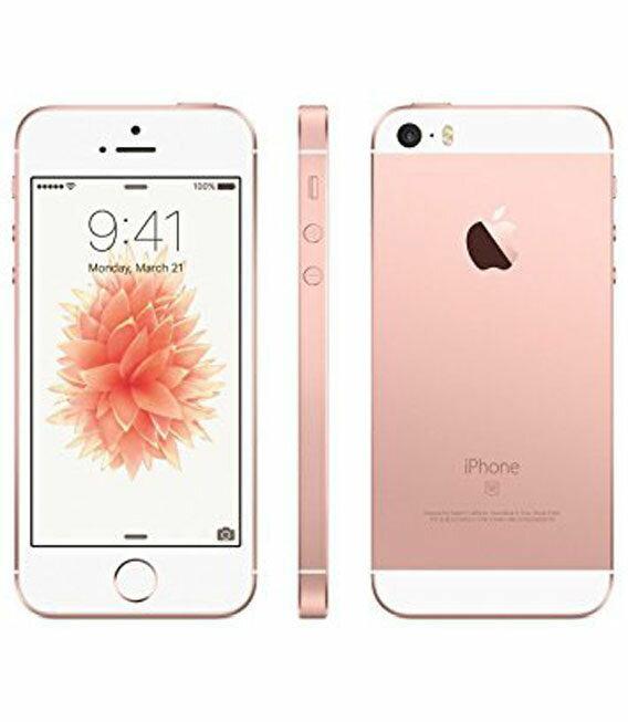 【中古】【安心保証】 SIMフリー iPhoneSE[64GB] ローズゴールト