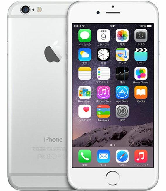 【中古】【安心保証】 SIMフリー 海外版 iPhone6 128GB シルバー