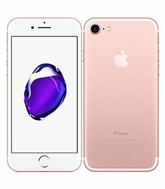 【中古】【安心保証】 au iPhone7 32GB ローズゴールド SIMロック解除済