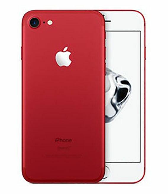 【中古】【安心保証】 docomo iPhone7[128GB] レッド