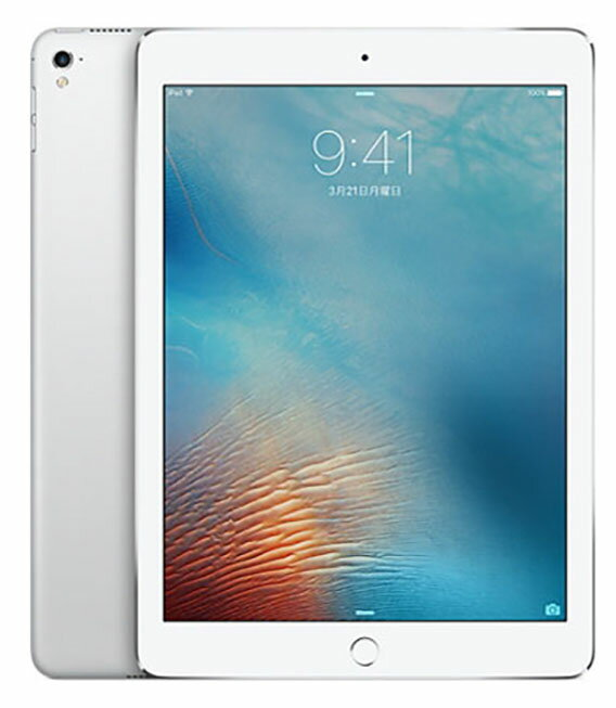 【中古】【安心保証】 SoftBank 9.7iPad[セルラー128G] シルバー