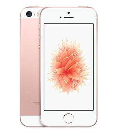 【中古】【安心保証】 UQモバイル iPhoneSE[32G] ローズゴールド