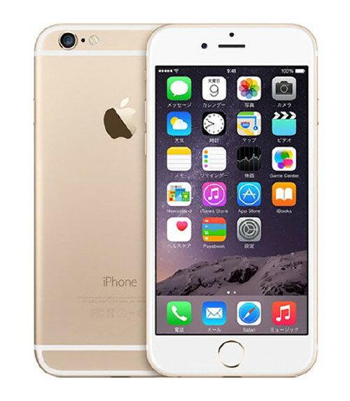【中古】【安心保証】 SIMフリー iPhone6[海外64GB] ゴールド