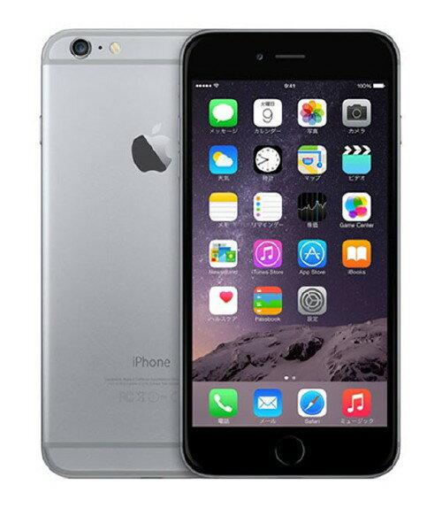 【中古】【安心保証】 SIMフリー iPhone6Plus[海外16GB] グレイ