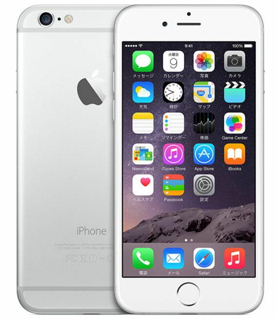 【中古】【安心保証】docomo iPhone6[16G] シルバー