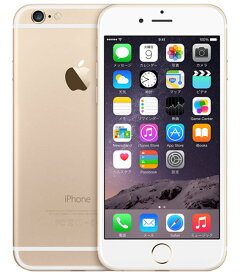 【中古】【安心保証】 SoftBank iPhone6[64G] ゴールド