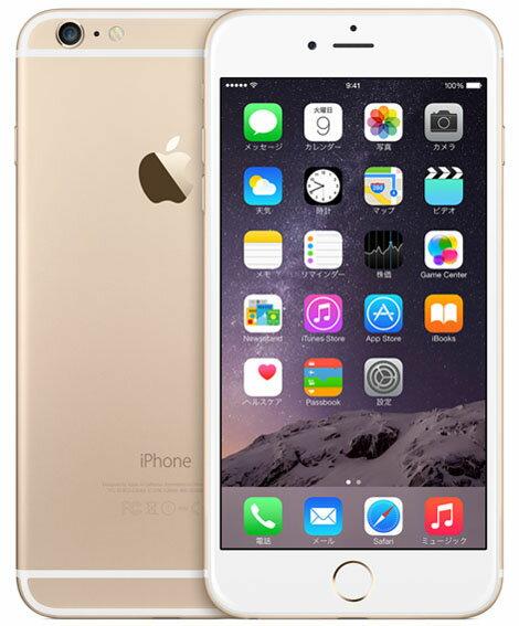 【中古】【安心保証】 SoftBank iPhone6Plus[16GB] ゴールド