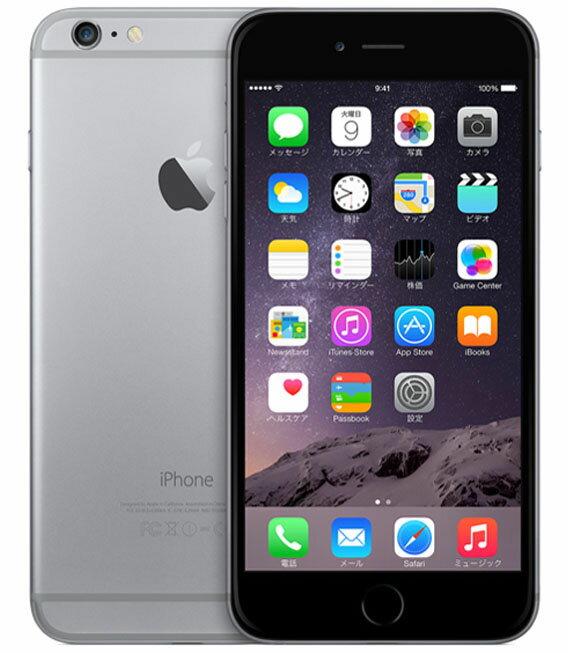 【中古】【安心保証】 SoftBank iPhone6Plus[128GB] スペースグレイ