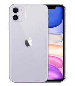 【中古】【安心保証】 au iPhone11[64G] パープル