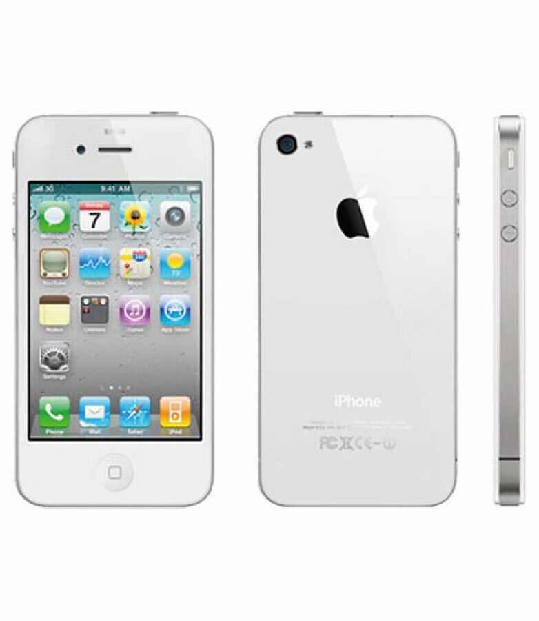 【中古】【安心保証】 SoftBank iPhone4[32GB] ホワイト