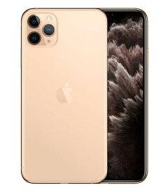 【中古】【安心保証】 SoftBank iPhone11 Pro Max[256G] ゴールド SIMロック解除済