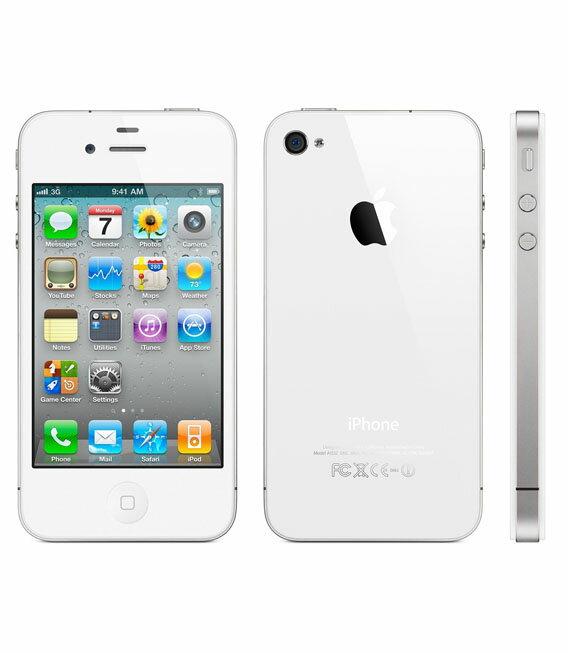 【中古】【安心保証】 SoftBank iPhone4S[32GB] ホワイト