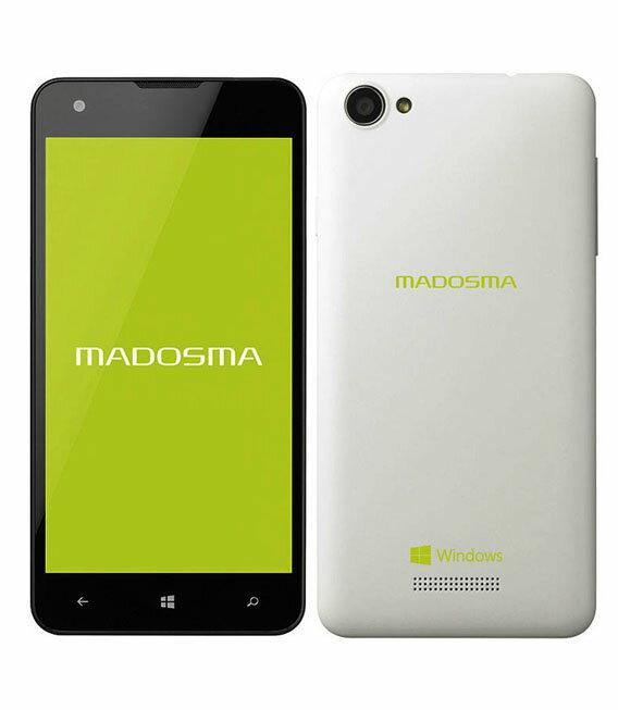 【中古】【安心保証】 SIMフリー MADOSMA_Q501A[8GB] パールホワイト