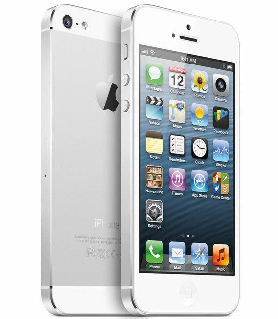 【中古】【安心保証】 SoftBank iPhone5[64GB] ホワイト&シルバー