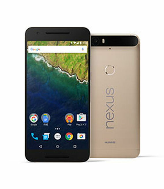 【中古】【安心保証】 SoftBank Nexus6P[64GB] ゴールド