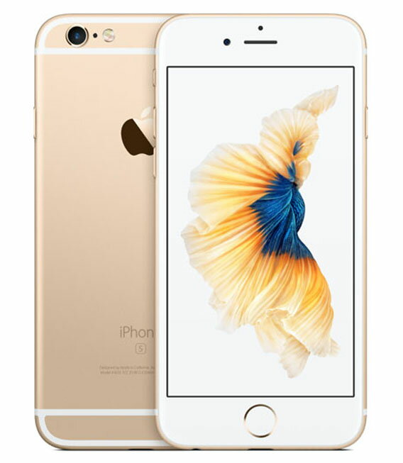 【中古】【安心保証】 SoftBank iPhone6s[128G] ゴールド