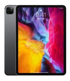 【中古】【安心保証】 SoftBank iPadPro-11_2[セルラー128G] スペースグレイ
