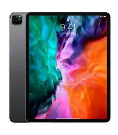 【中古】【安心保証】 au iPadPro-12.9_4[セルラー128G] スペースグレイ