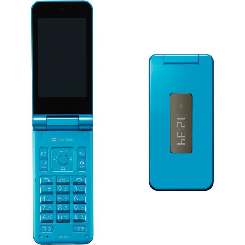 【中古】【安心保証】 SoftBank 840SH[Jelly Beans] ブルー