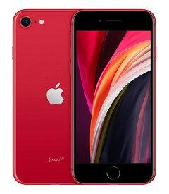 【中古】【安心保証】 au iPhoneSE 第2世代[128G] レッド
