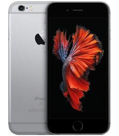 【中古】【安心保証】 au iPhone6s[128G] スペースグレイ SIMロック解除済
